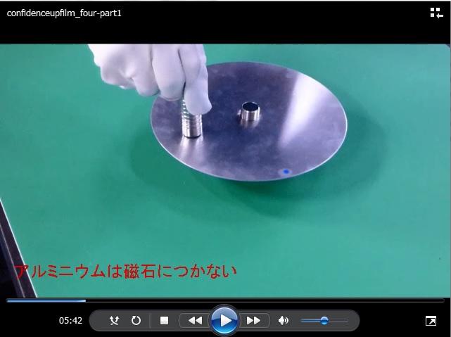 アラゴの円板の実験動画